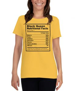 Black Queen Nutritional Facts Women T Shirt