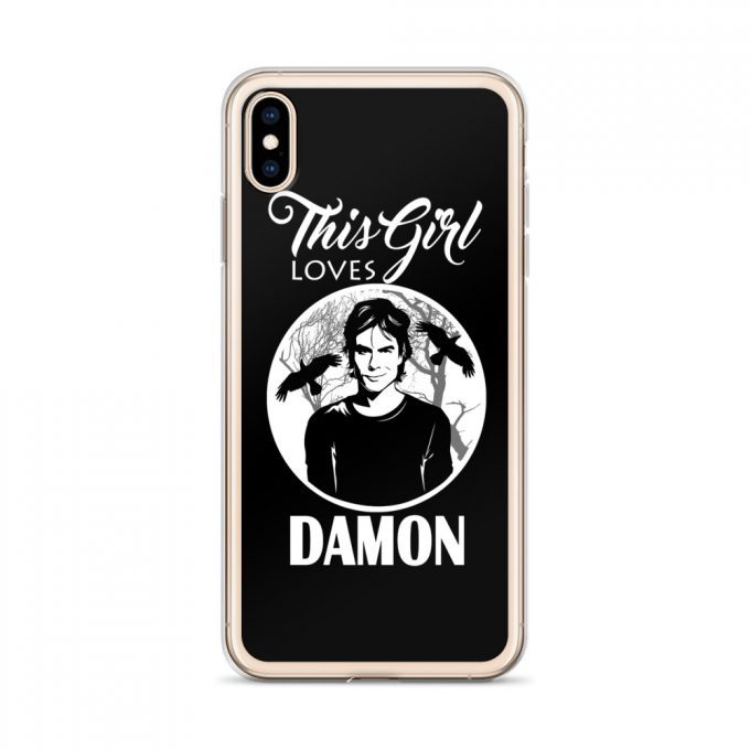 This Girl Loves Damon Vampire Diaries Custom iPhone X Case
