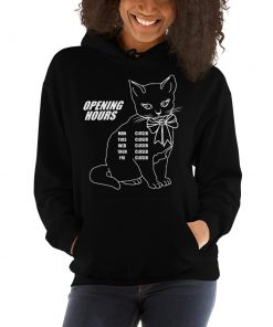 Cute Opening Hours Kitty Unisex Hoodie