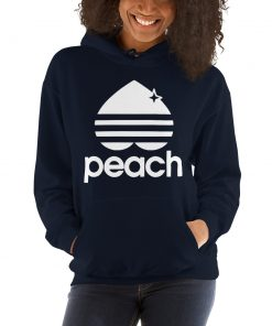 Peach Three Stripes Aesthetic Hoodie