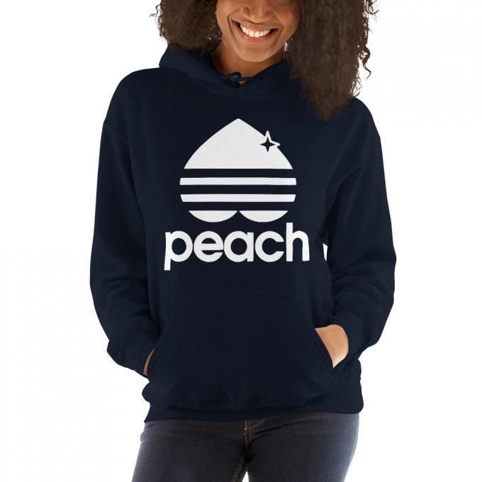 Peach Three Stripes Aesthetic Hoodie