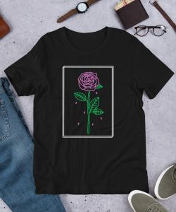 Aesthetic Red Rose Crying Unisex T Shirt