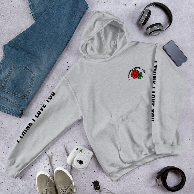 I Think I Love You Red Rose Unisex Hoodie