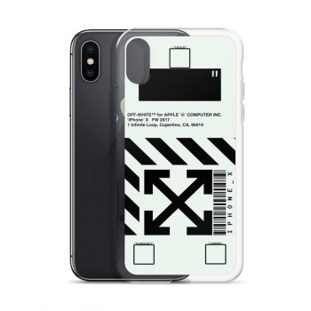 Off White Apple Computer Custom iPhone X Case