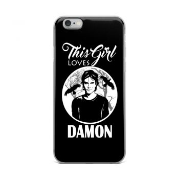 This Girl Loves Damon Vampire Diaries Custom iPhone X Case