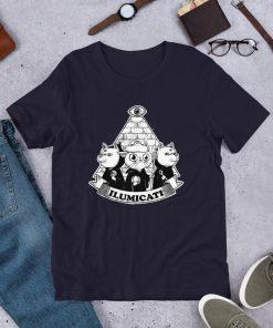 Funny Ilumicati Cat T Shirt Illuminate Parody