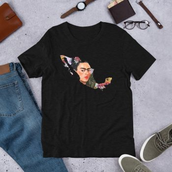 Frida Kahlo Mexico Map Unisex T Shirt