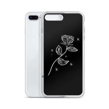 Asthetic Outline Rose Custom iPhone X Case