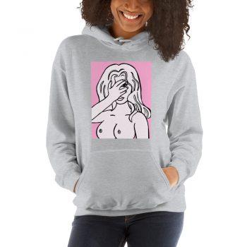 Unapologetic Pink Girl Aesthetic Hoodie Design