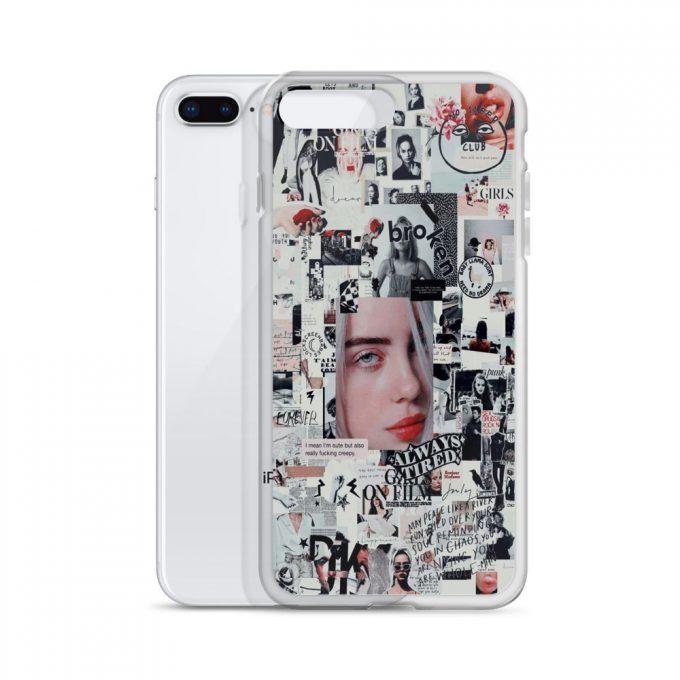 Billie Eilish Bad Girl Collage Custom iPhone X Case
