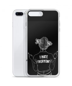 I Hate Everyone Sarcastic Quote Custom iPhone X Case