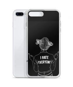 I Hate Everyone Sarcastic Quote Custom iPhone X Case