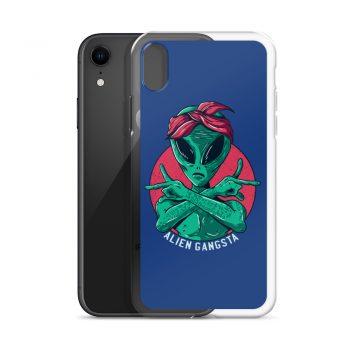 Funny Alien Gangsta Custom iPhone X Case