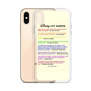 Disney Life Quote Custom iPhone X Case
