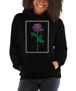 Aesthetic Rose Crying Unisex Hoodie