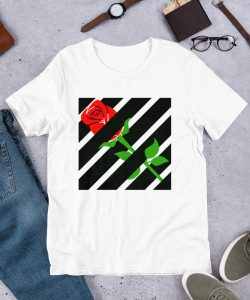Hypebeast Aesthetic Red Rose Off White T Shirt Inspired
