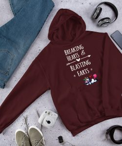 Funny Unicorn Breaking Hearts and Blasting Farts Hoodie