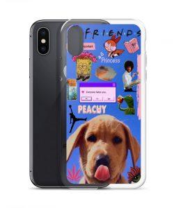 Friends Peachy Collage Custom iPhone X Case