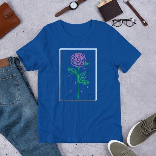 Aesthetic Red Rose Crying Unisex T Shirt