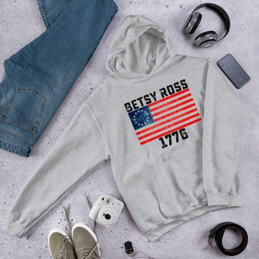 Vintage Betsy Ross 1776 American Flag Hoodie