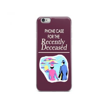 Recently Deceased Book Cover Custom iPhone X Case
