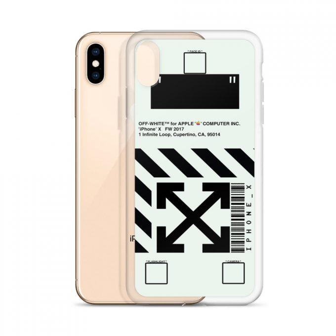 Off White Apple Computer Custom iPhone X Case