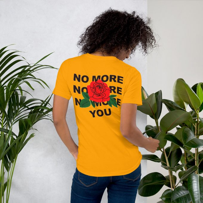 No More You Asthetic Red Rose T Shirt