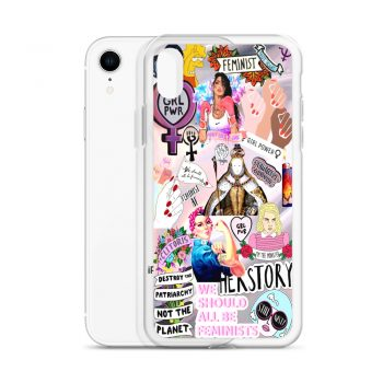 Feminist Girl Power Collage Custom iPhone X Case
