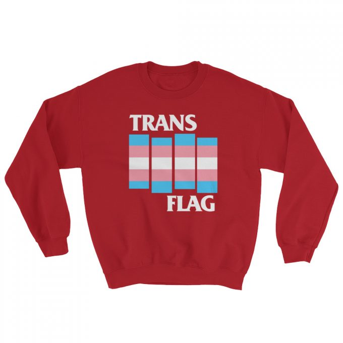 Trans Gender LGBT Flag Unisex Sweatshirt