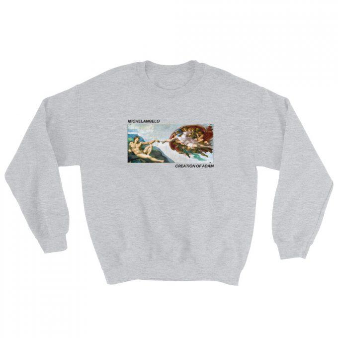 Michelangelo Creation of Adam Art Unisex Sweatshirt