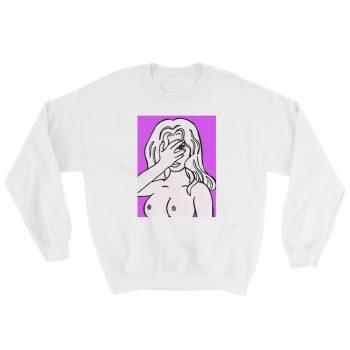 Unapologetic Blue Girl No Bra Club Sweatshirt