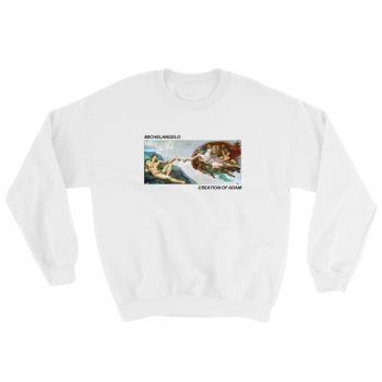 Michelangelo Creation of Adam Art Unisex Sweatshirt