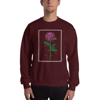 Aesthetic Rose Crying Unisex Sweatshirt