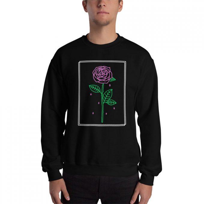 Aesthetic Rose Crying Unisex Sweatshirt