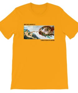Michelangelo Creation Of Adam Aesthetic T Shirt