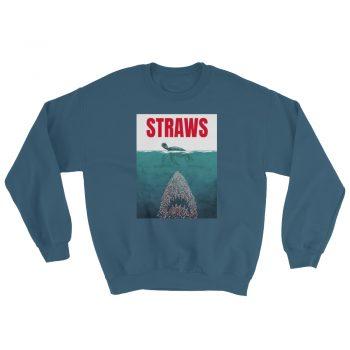 Funny Straws Jaws Parody Sweatshirt