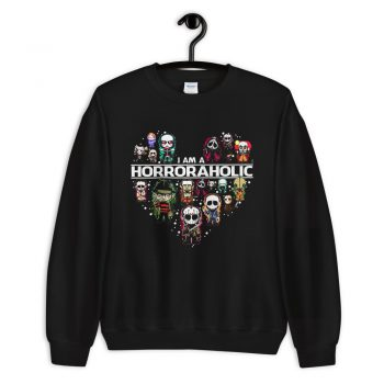 I Am A Horroraholic Halloween Sweatshirt