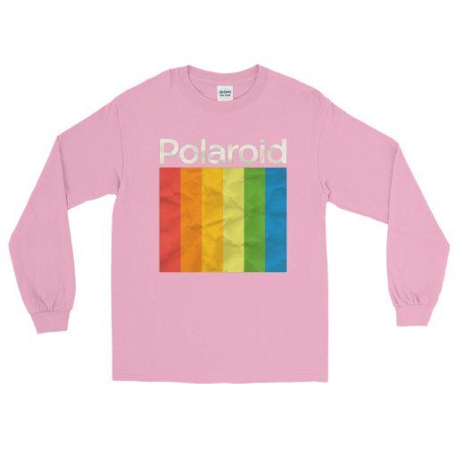 Polaroid Rainbow Color Long Sleeve T-Shirt