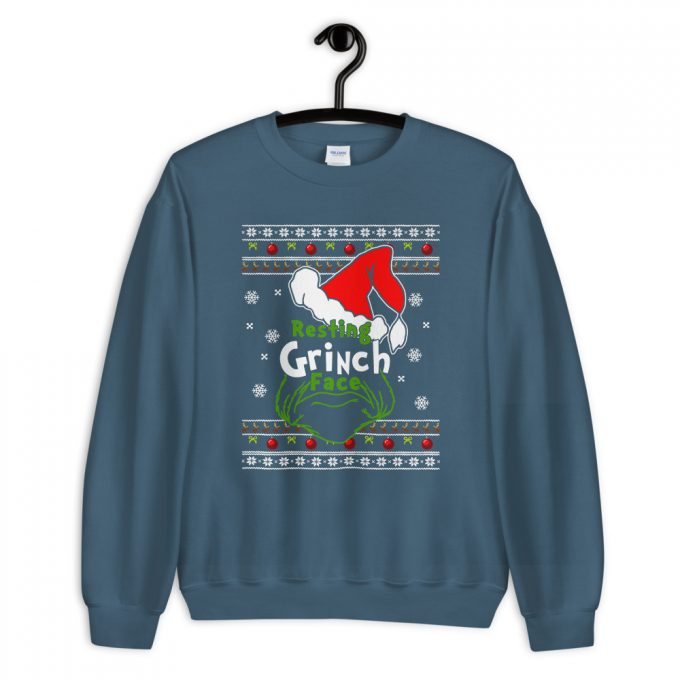 Funny Resting Grinch Face Unisex Christmas Sweatshirt