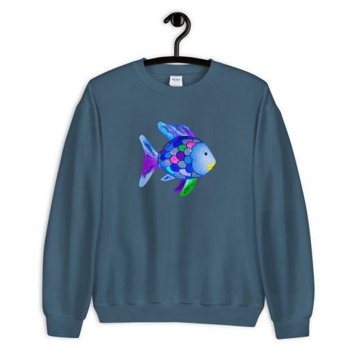 Cute Rainbow Fish Marcus Pfister Unisex Sweatshirt