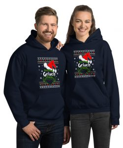 Funny Resting Grinch Face Unisex Christmas Hoodie