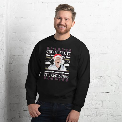 Back To The Future Great Scott It's Christmas Sweatshirt