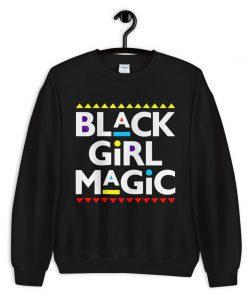 Melanin Slogan Black Girl Magic Unisex Sweatshirt
