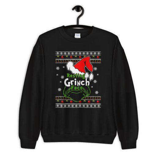 Funny Resting Grinch Face Unisex Christmas Sweatshirt