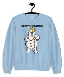 Cheap Snowtorious Big Biggie Christmas Sweatshirt