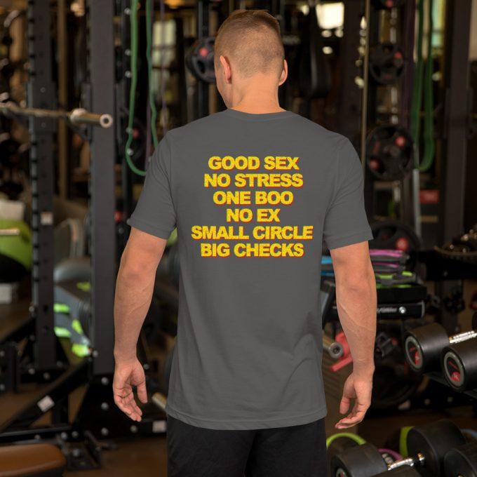 Good Sex No Stress One Boo No Ex Small Circle Big Checks T Shirt