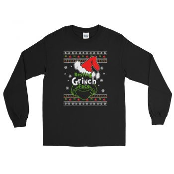 Cheap Resting Grinch Face Ugly Long Sleeve T-Shirt