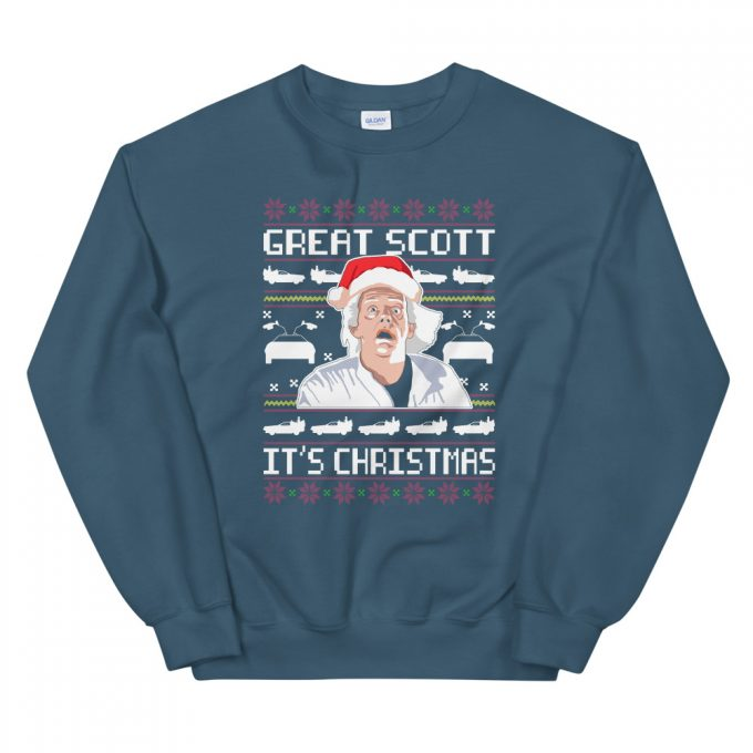 Back To The Future Great Scott It's Christmas Sweatshirt