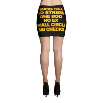 Good Sex No Stress One Boo No Ex Mini Skirt