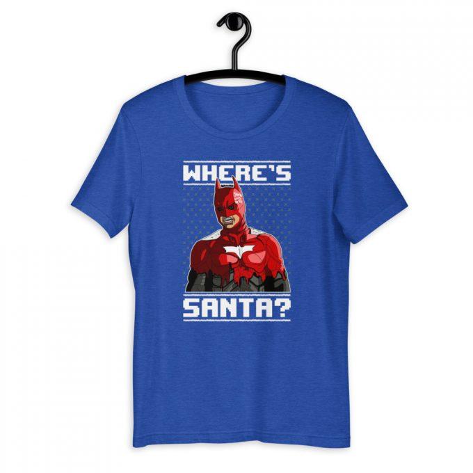 Batman Iron Man Where's Santa Unisex T-Shirt